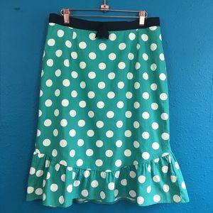 Anthro Corey Lynn Calter polka dot ruffle skirt 12
